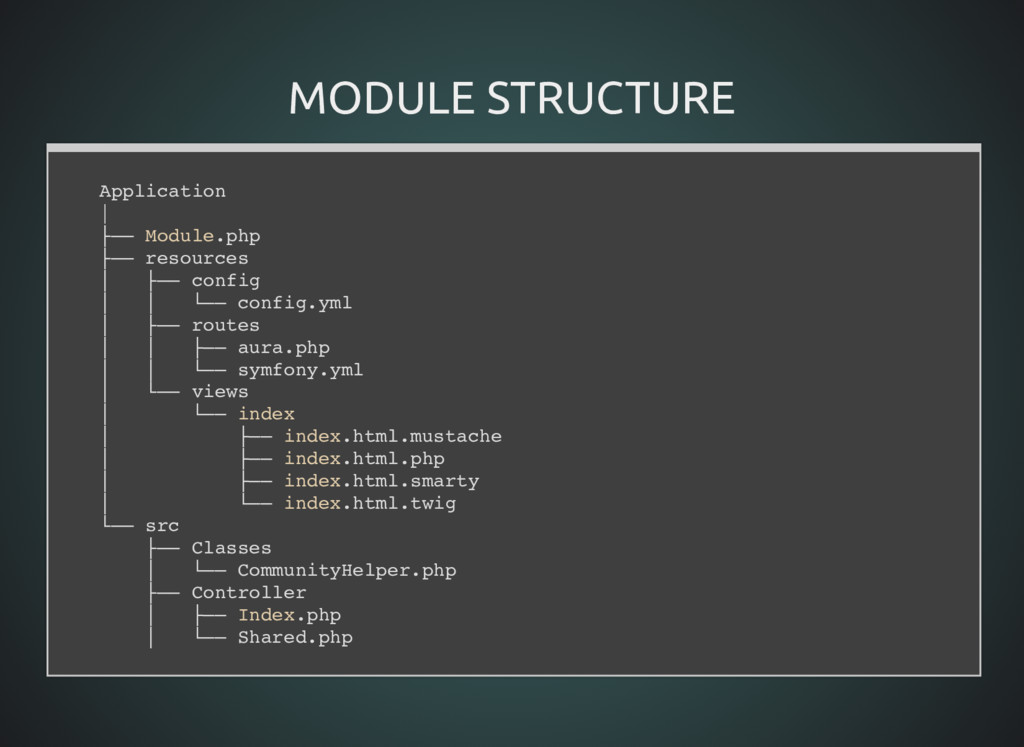 MODULE STRUCTURE MODULE STRUCTURE Application  ...