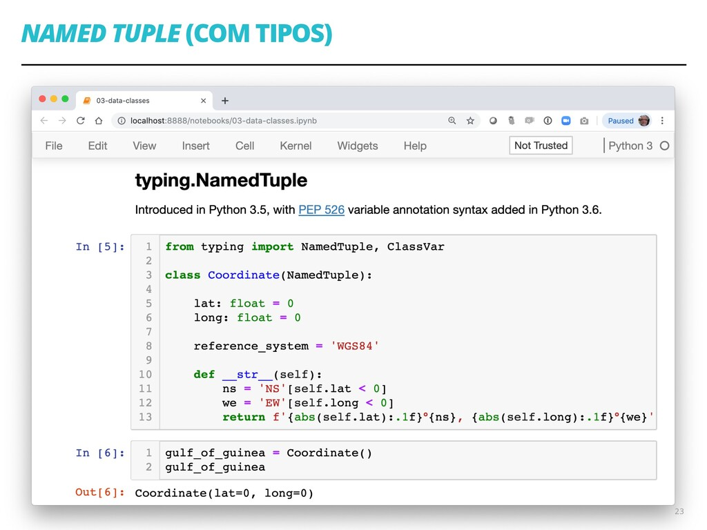 NAMED TUPLE (COM TIPOS) 23