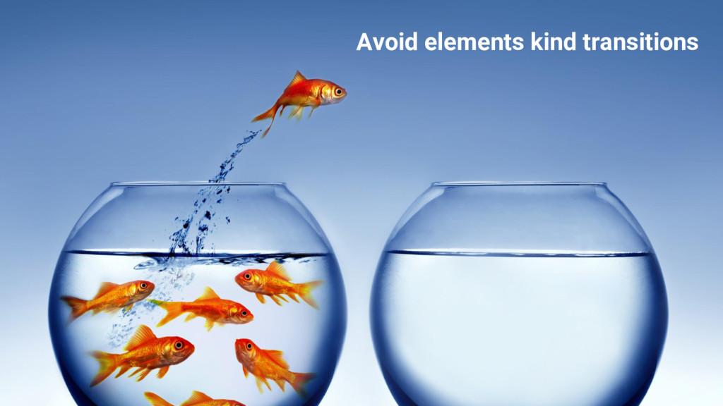 Avoid holes! #ProTip Avoid elements kind transi...