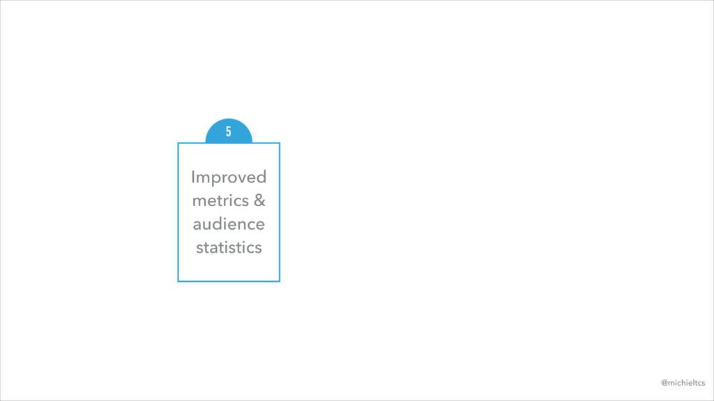 Improved metrics & audience statistics 5 @michi...