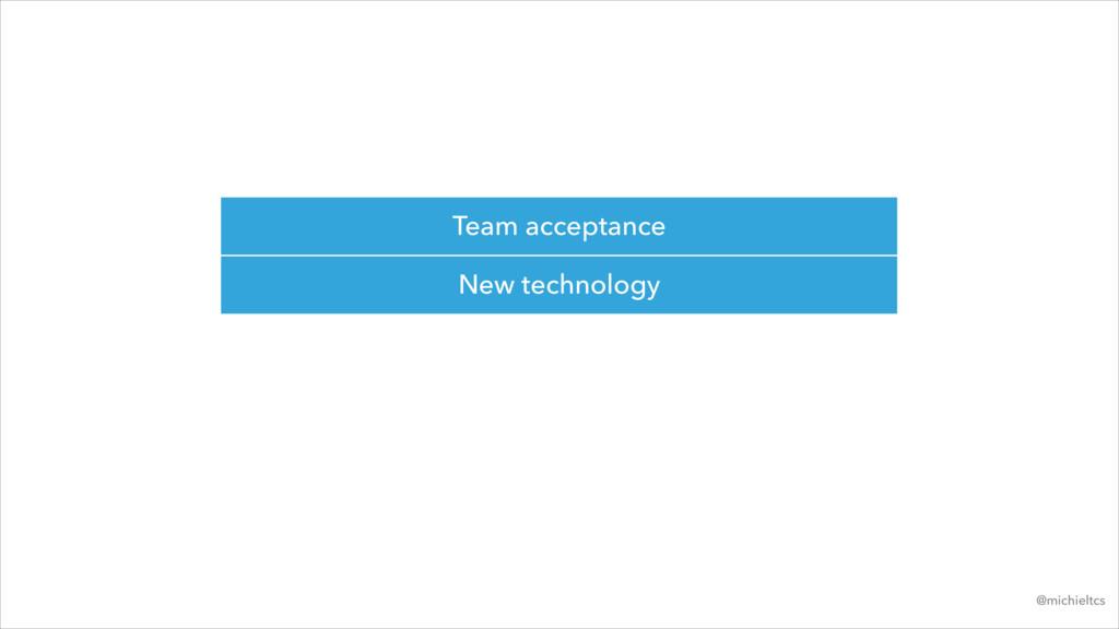 Team acceptance New technology @michieltcs
