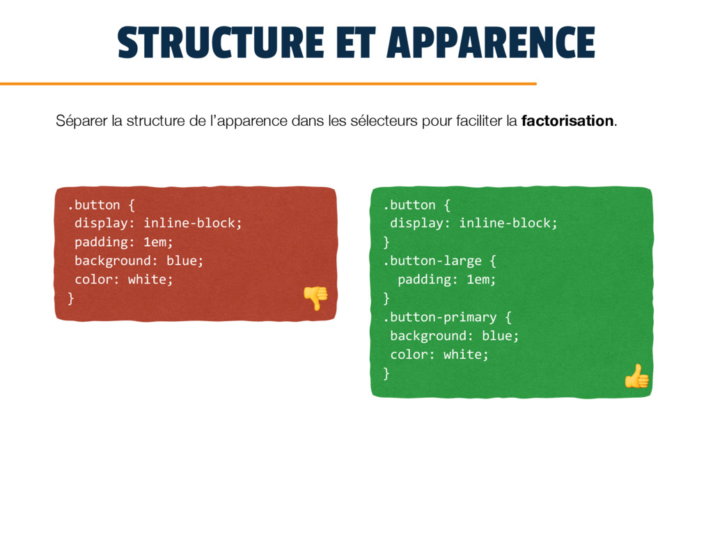 STRUCTURE ET APPARENCE .button { display: inlin...