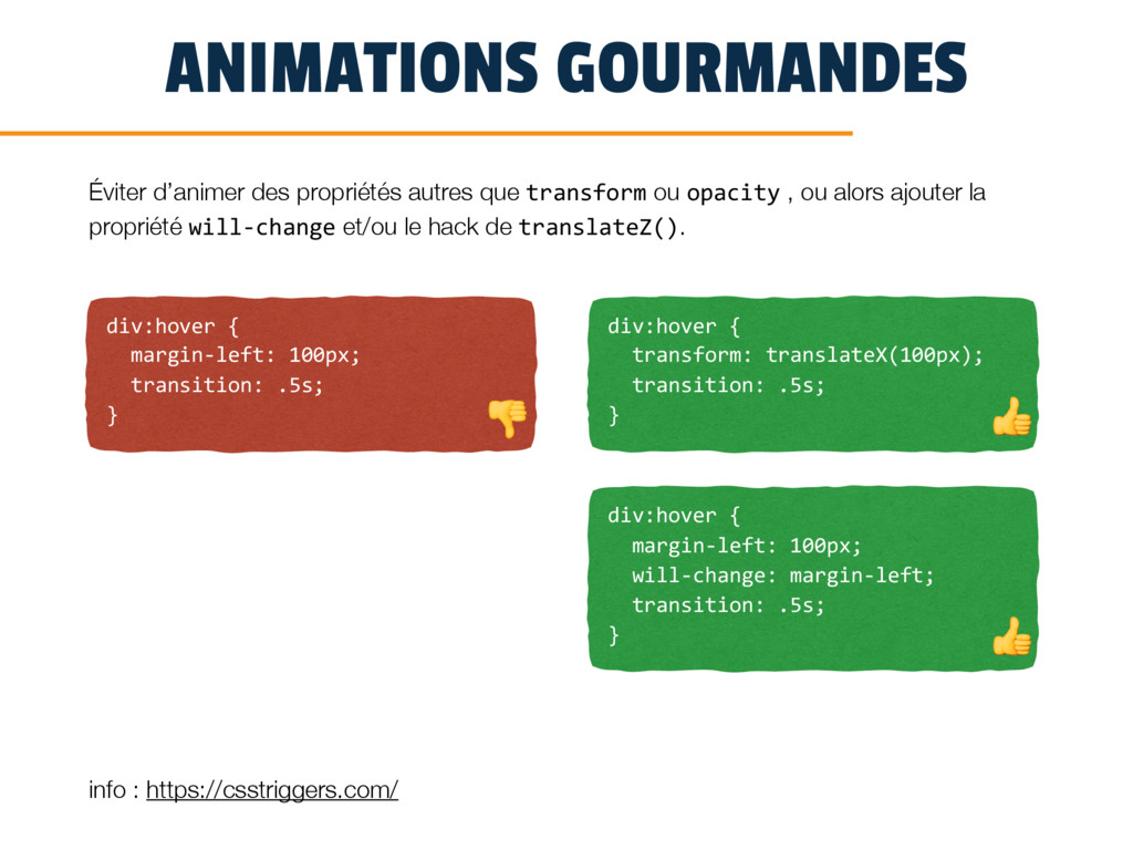 ANIMATIONS GOURMANDES div:hover { margin-left: ...