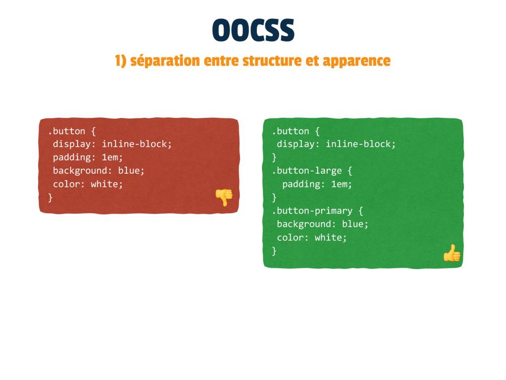 OOCSS 1) séparation entre structure et apparenc...