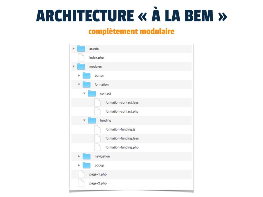 ARCHITECTURE « À LA BEM » complètement modulaire
