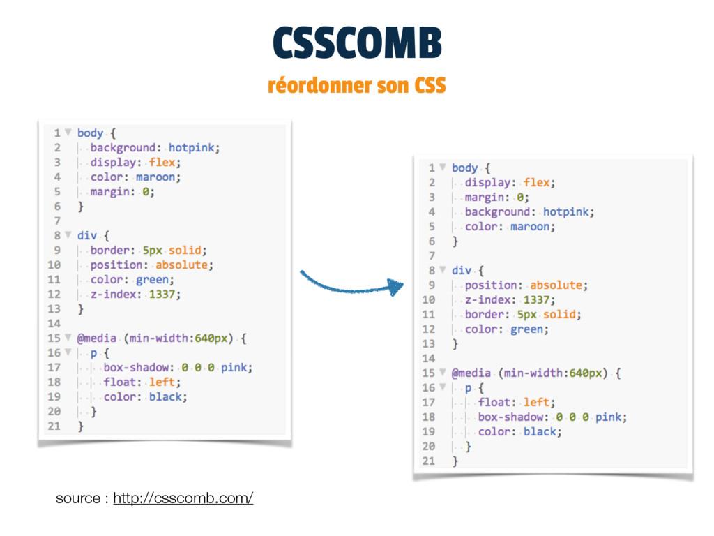 CSSCOMB réordonner son CSS source : http://cssc...