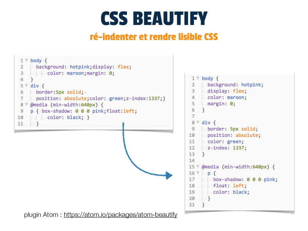 CSS BEAUTIFY ré-indenter et rendre lisible CSS ...