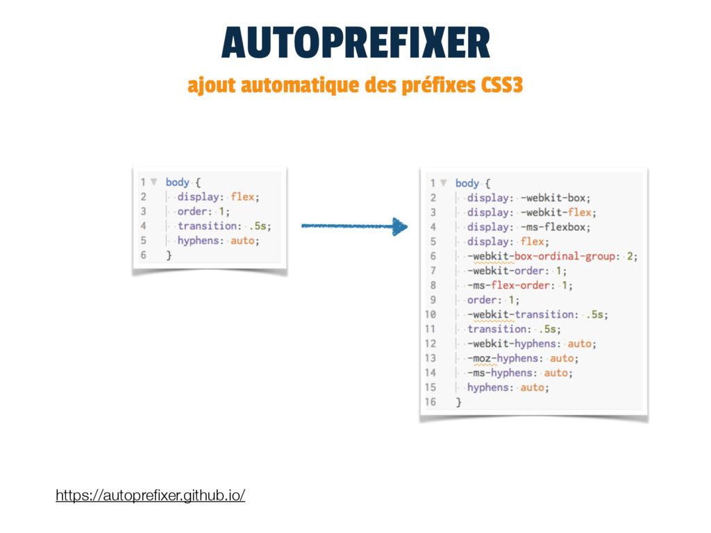 AUTOPREFIXER ajout automatique des préfixes CSS...