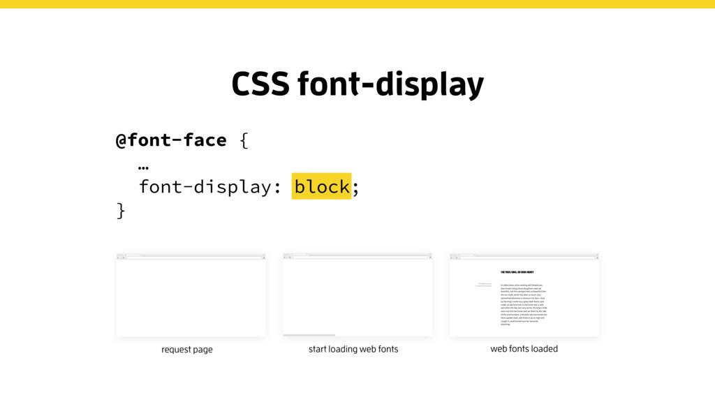 @font-face { … font-display: block; } CSS font-...