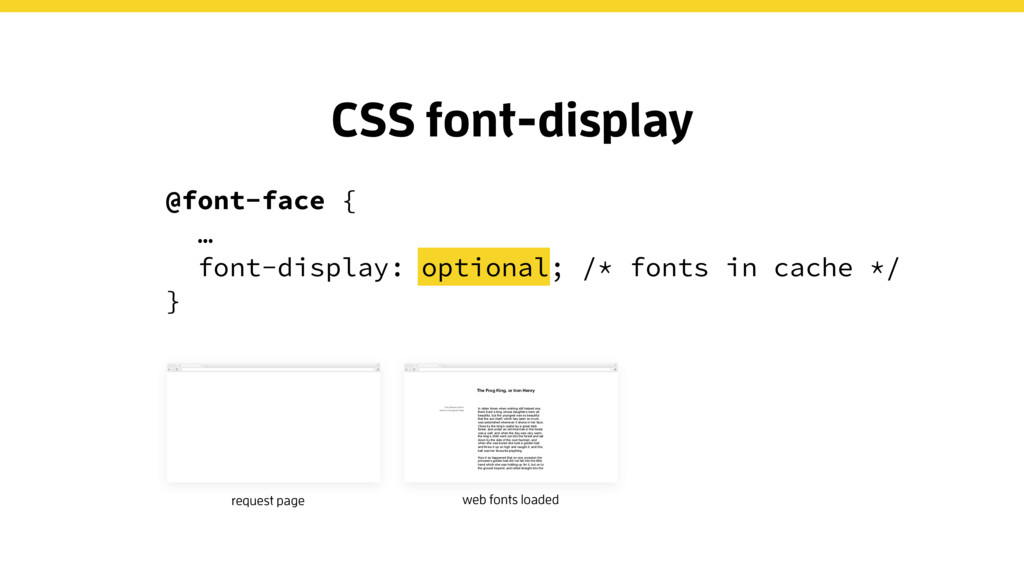 CSS font-display request page web fonts loaded ...
