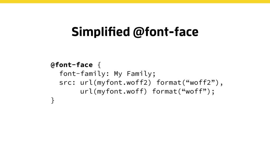 @font-face { font-family: My Family; src: url(m...
