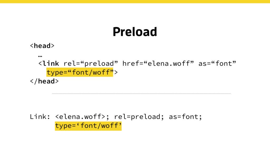 "Preload <head> … <link rel=""preload"" href=""elen..."