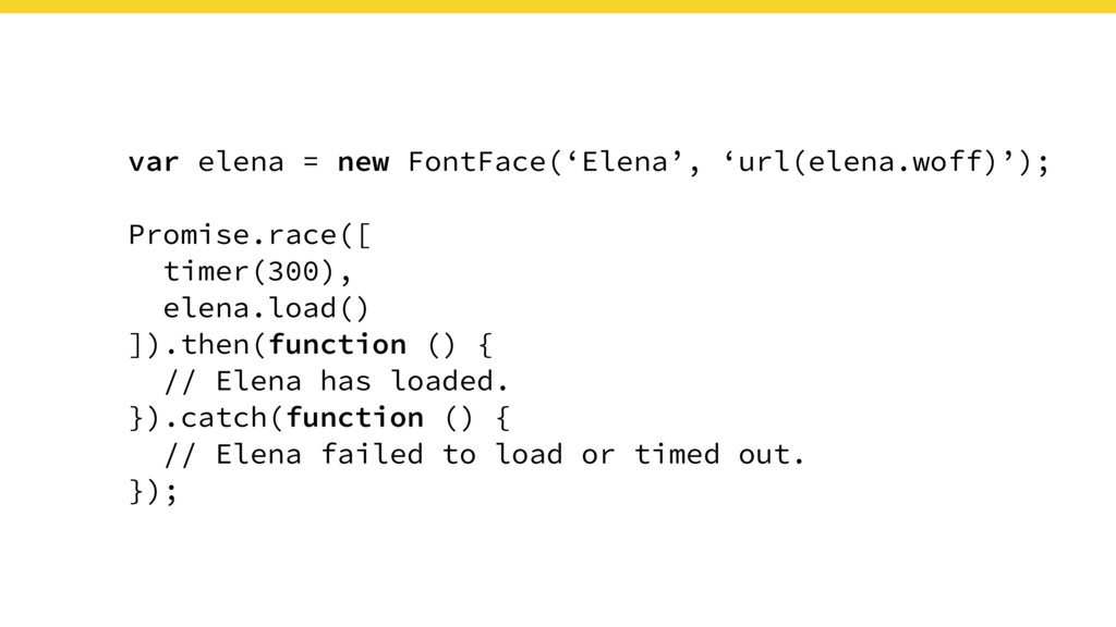 var elena = new FontFace('Elena', 'url(elena.wo...