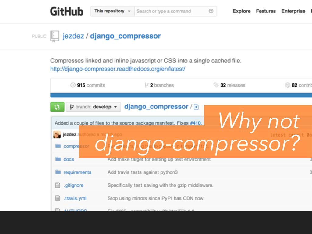 Why not django-compressor?