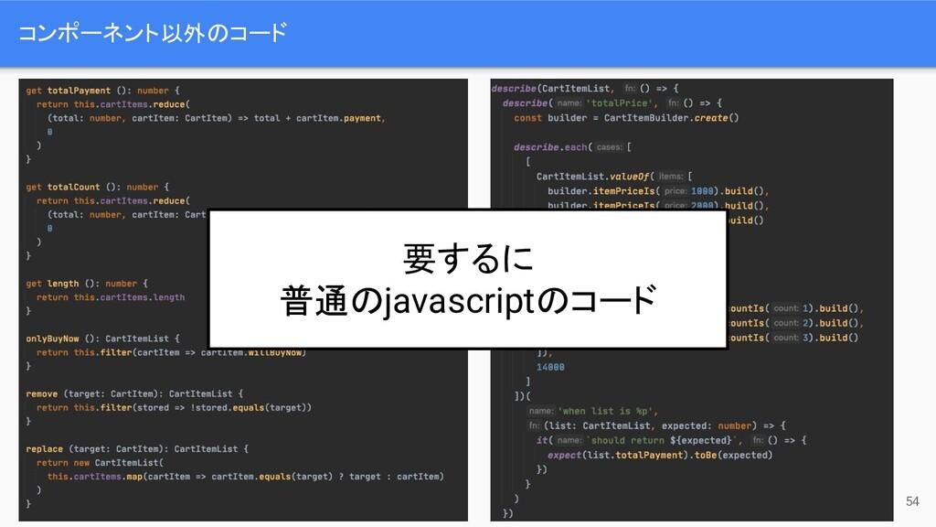 コンポーネント以外のコード 54 要するに 普通のjavascriptのコード