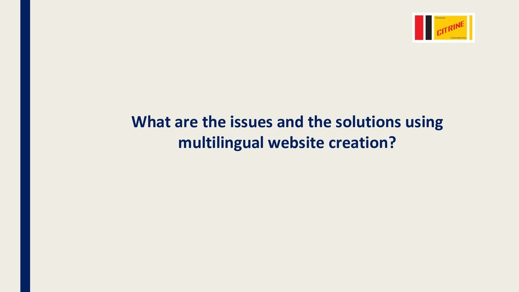 What are the issues and the solutions using mul...