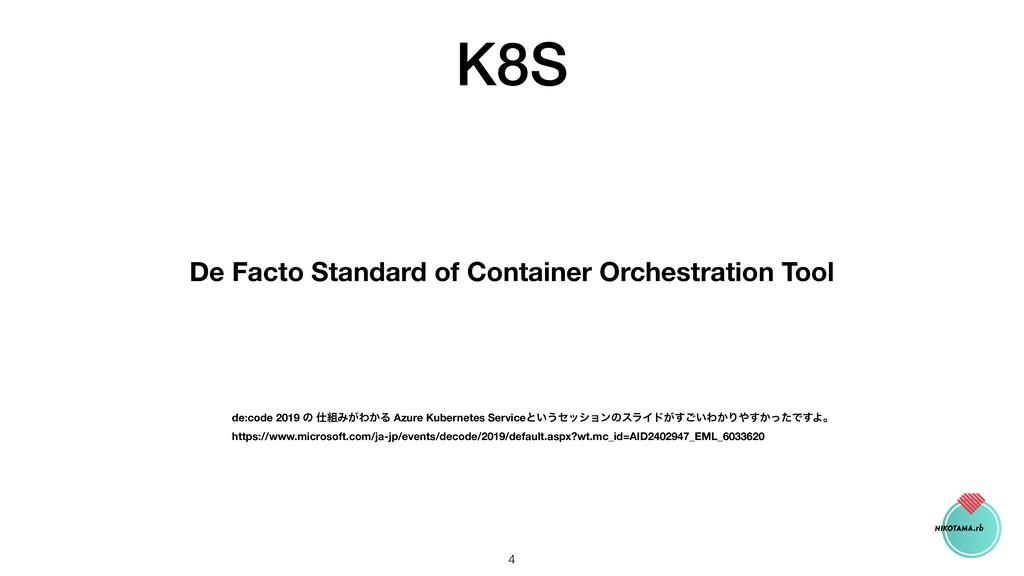 K8S De Facto Standard of Container Orchestratio...