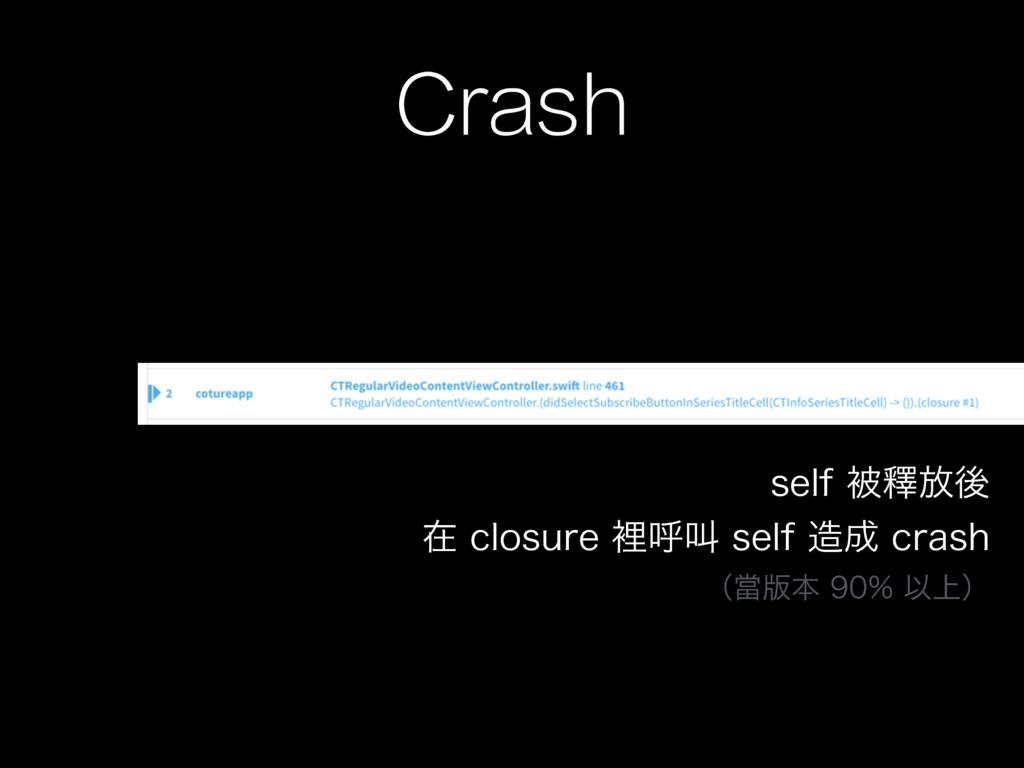 Crash TFMGඃᬶ์ޙ ࡏDMPTVSFཫݺڣTFMGDSBTI ʢ...