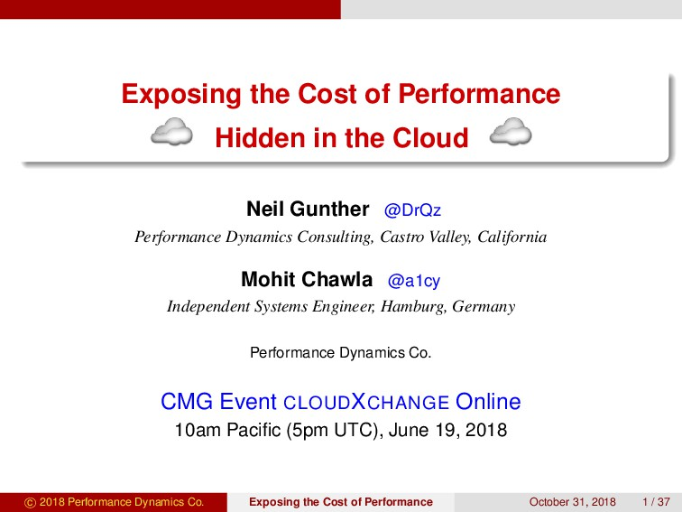Exposing the Cost of Performance Hidden in the ...