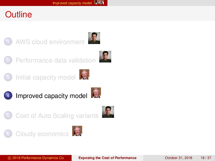 Improved capacity model Outline 1 AWS cloud env...