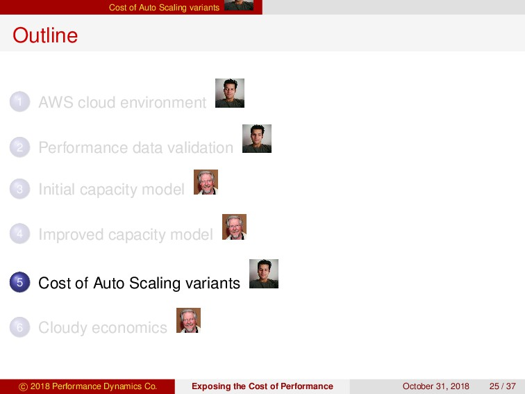 Cost of Auto Scaling variants Outline 1 AWS clo...