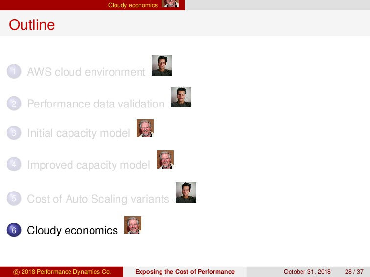 Cloudy economics Outline 1 AWS cloud environmen...