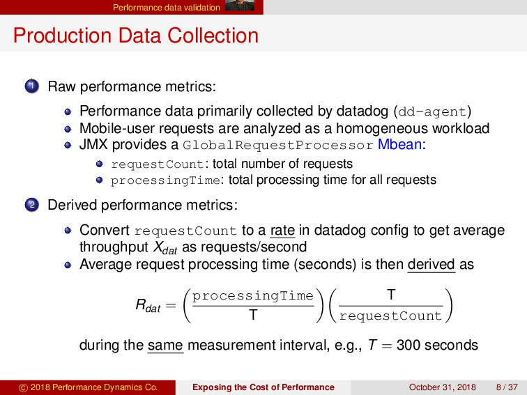 Performance data validation Production Data Col...