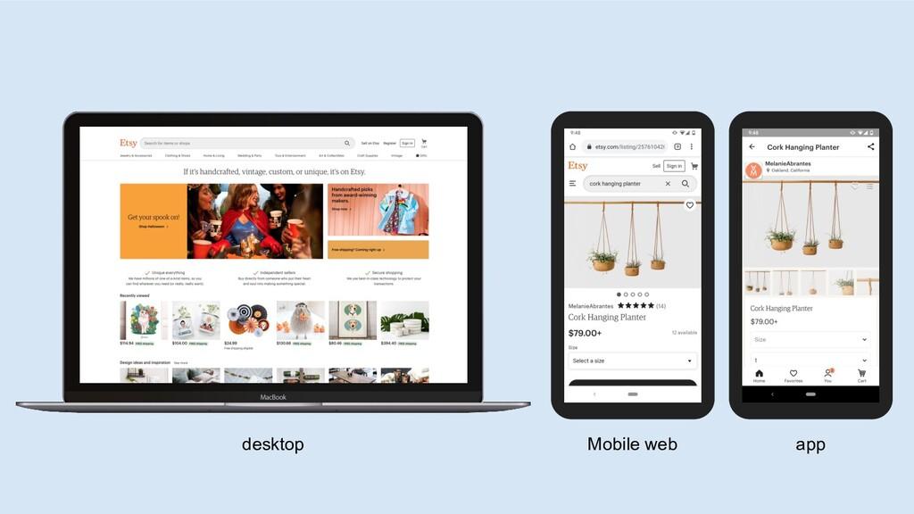 desktop Mobile web app