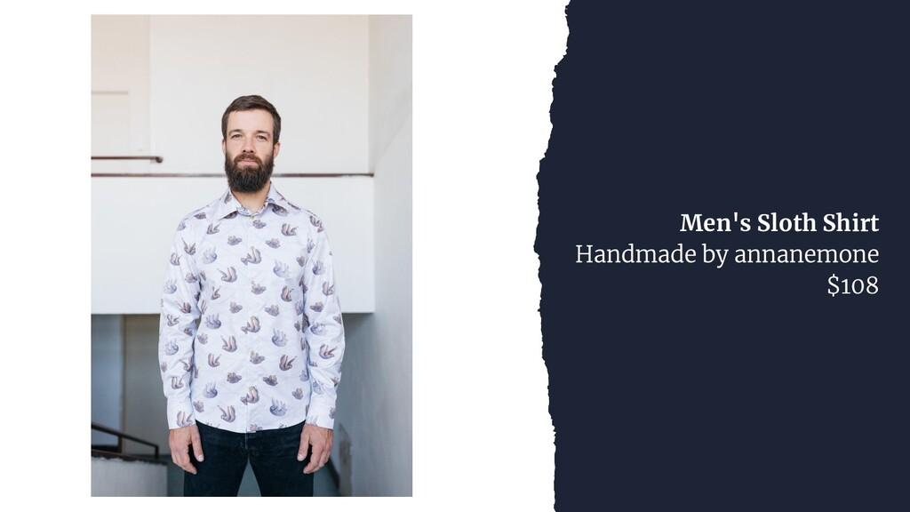 Men's Sloth Shirt