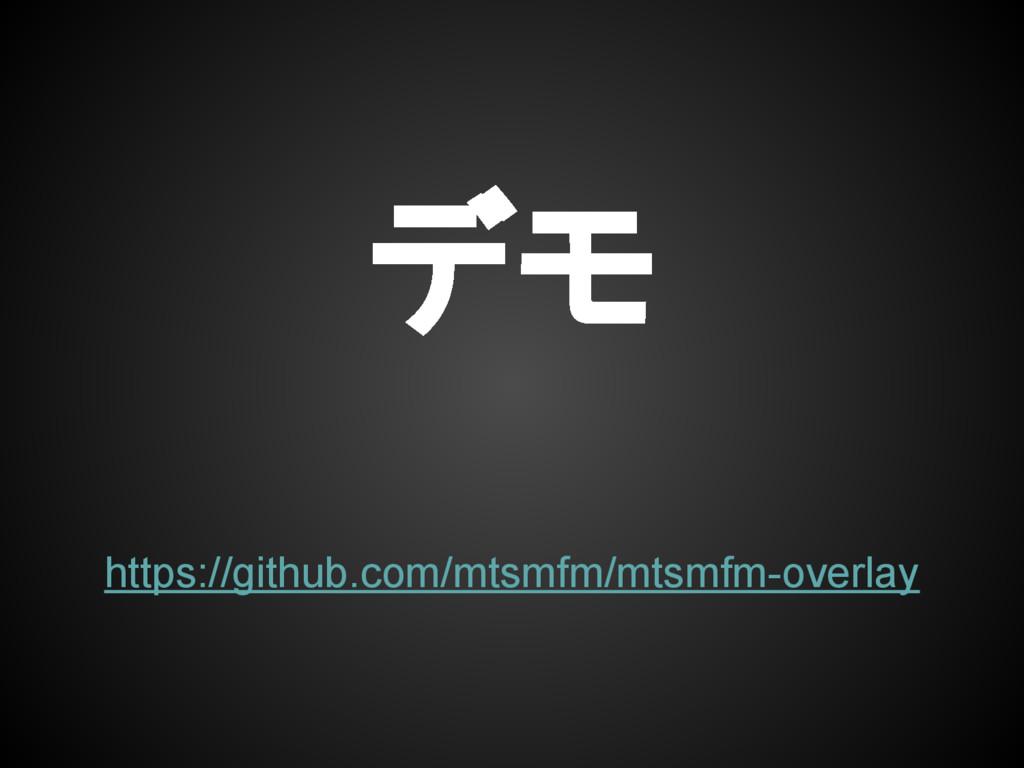 デモ https://github.com/mtsmfm/mtsmfm-overlay
