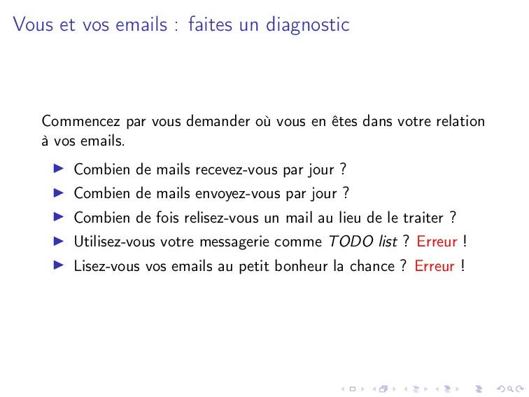 Vous et vos emails : faites un diagnostic Comme...