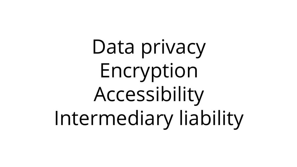 Data privacy Encryption Accessibility Intermedi...