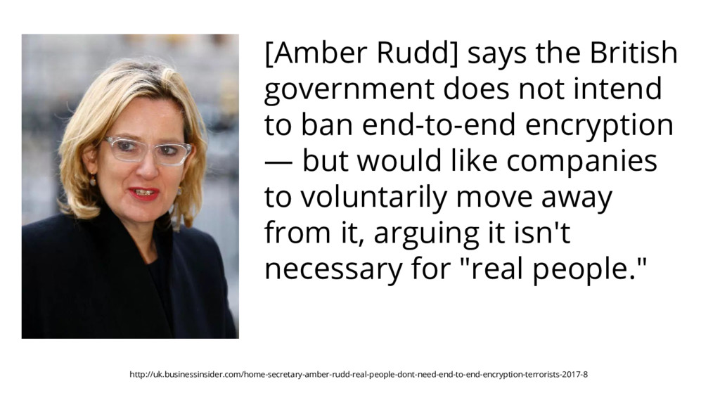 [Amber Rudd] says the British government does n...