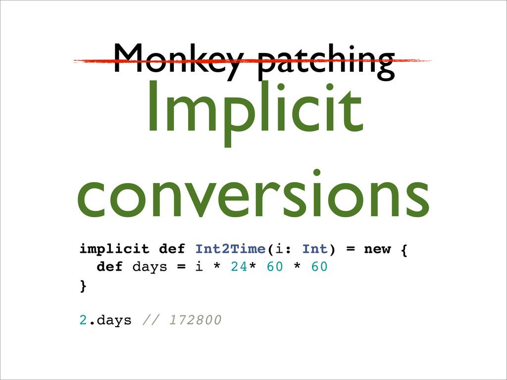 Monkey patching Implicit conversions implicit d...