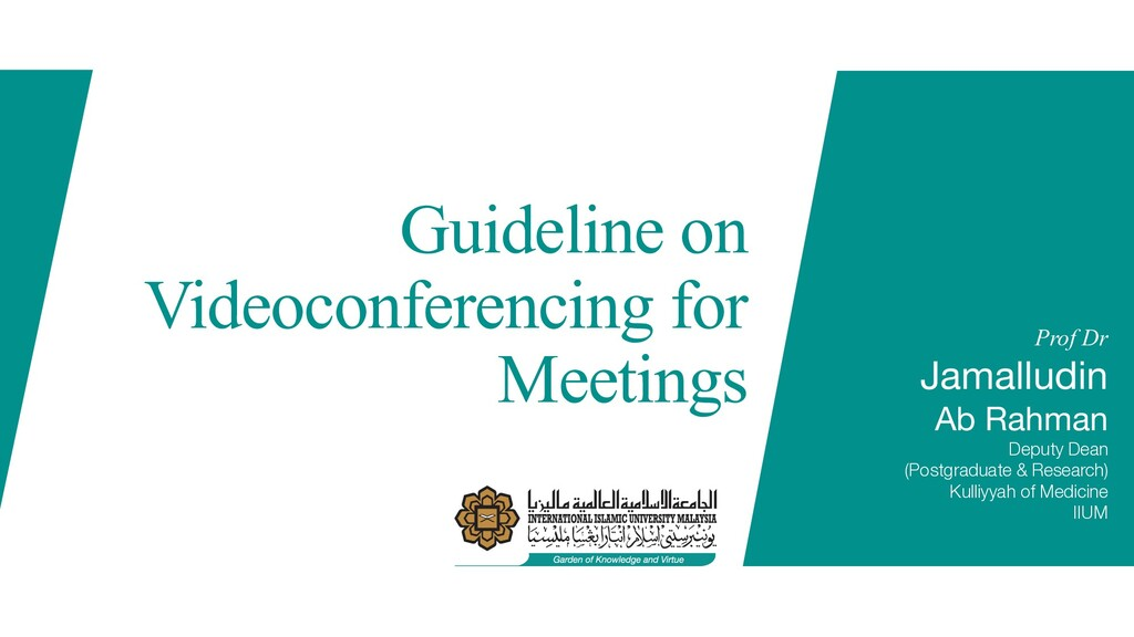 Guideline on Videoconferencing for Meetings Pro...
