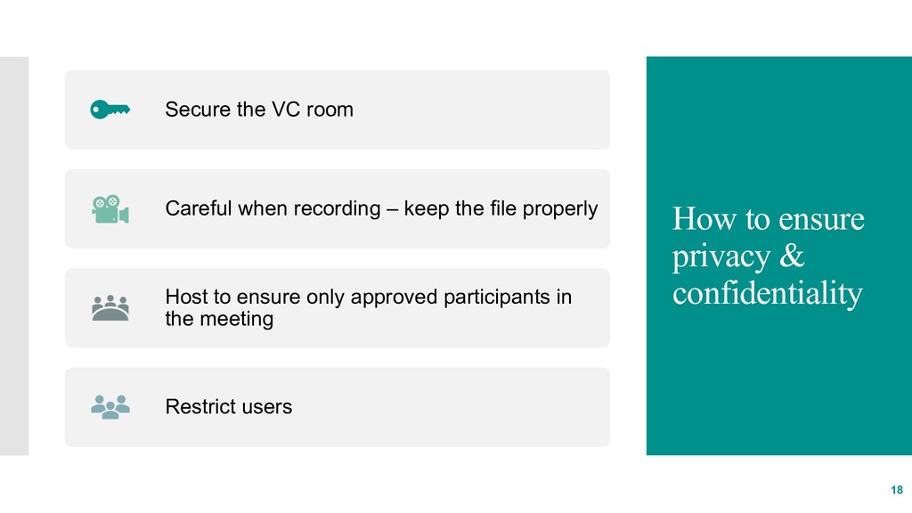 How to ensure privacy & confidentiality 18 Secu...