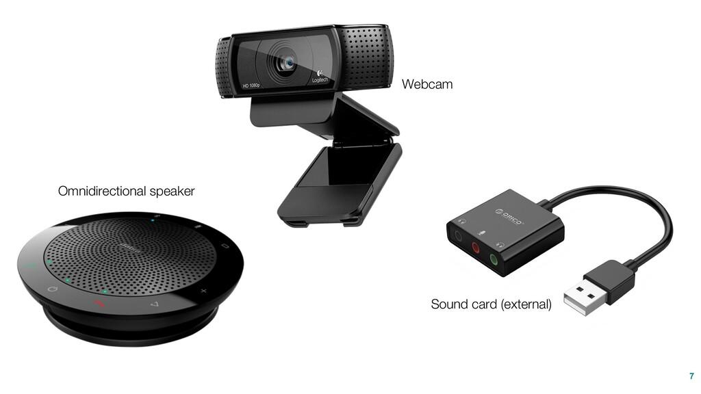 7 Omnidirectional speaker Webcam Sound card (ex...