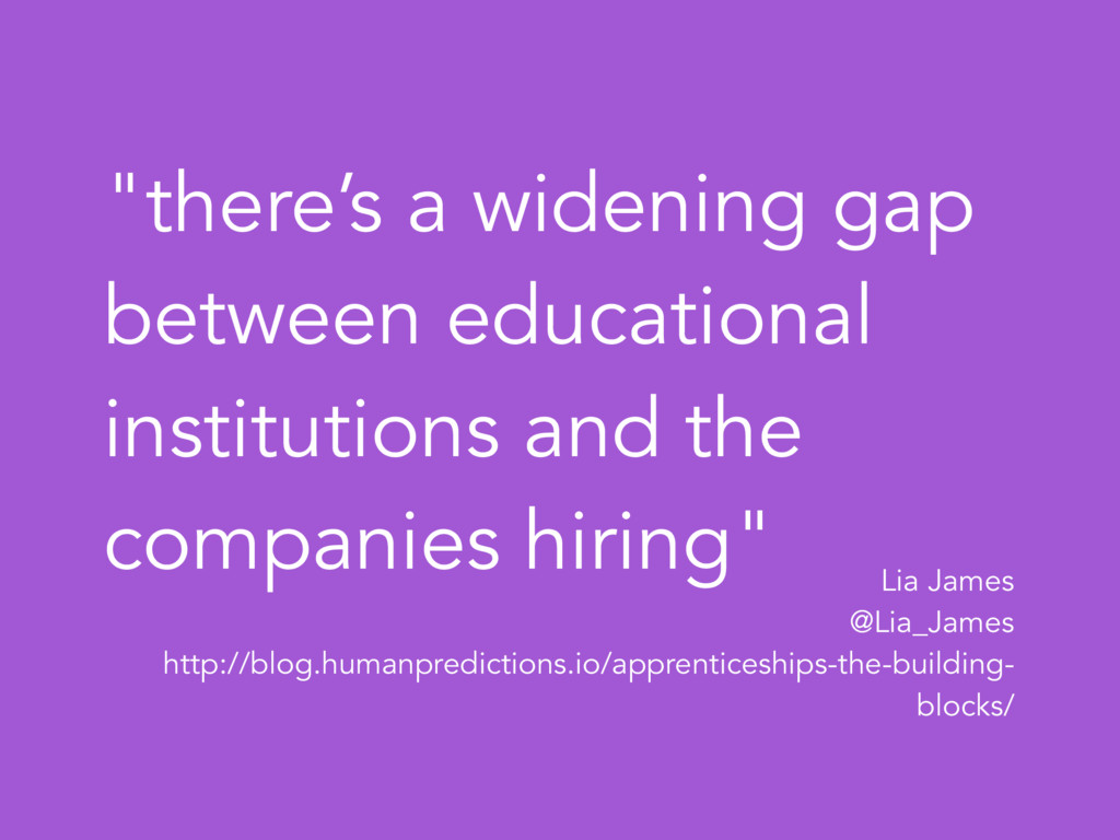 """""""there's a widening gap between educational ins..."""