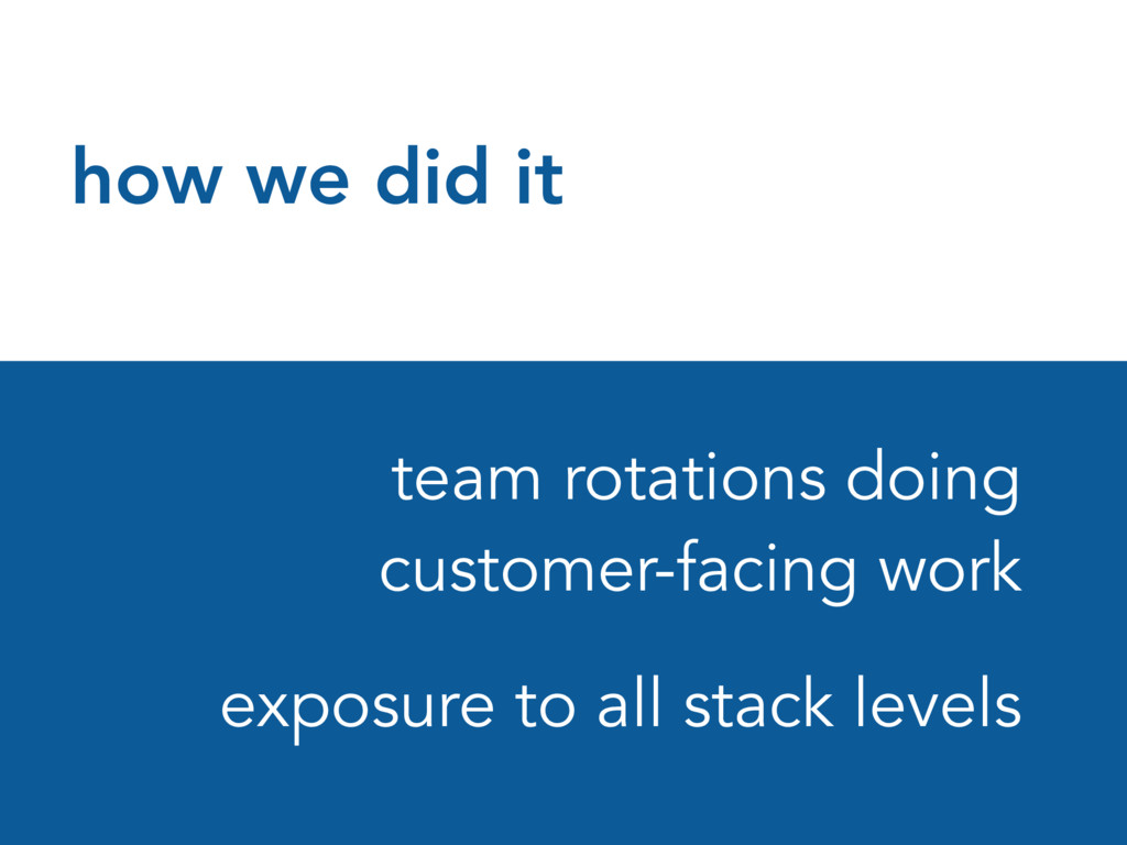 how we did it team rotations doing customer-fac...