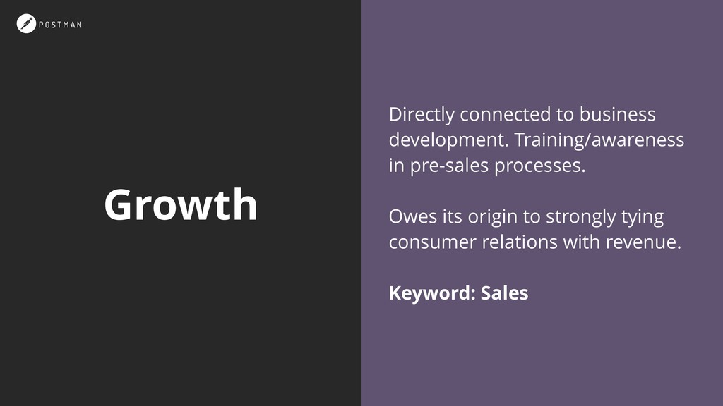 Growth Directly connected to business developme...