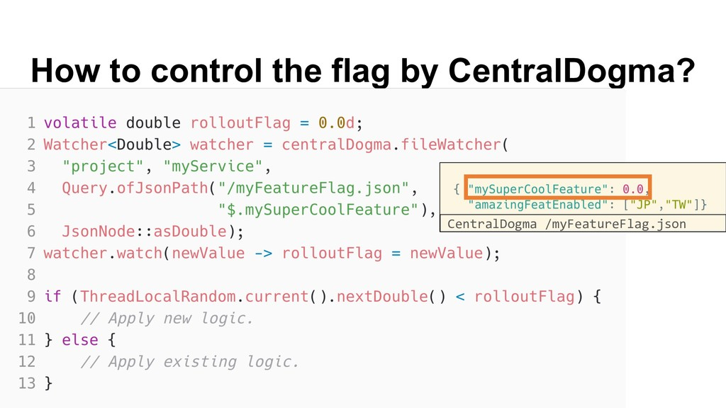 How to control the flag by CentralDogma? Centra...