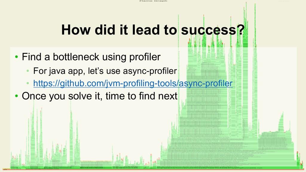 • Find a bottleneck using profiler • For java a...