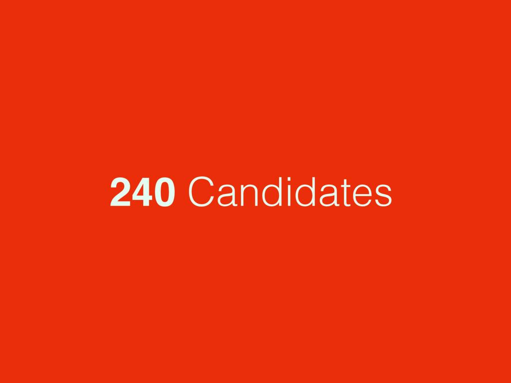 240 Candidates