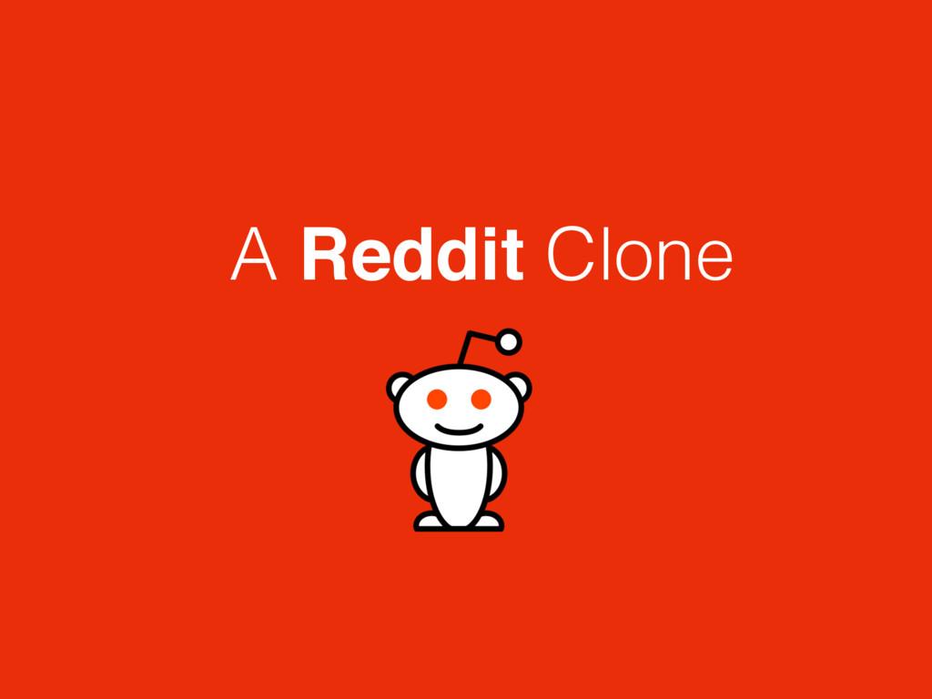 A Reddit Clone