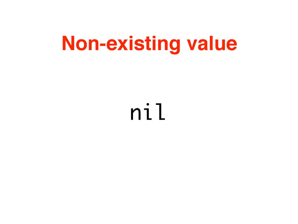 nil Non-existing value