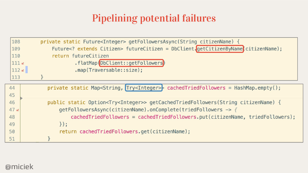 @miciek Pipelining potential failures