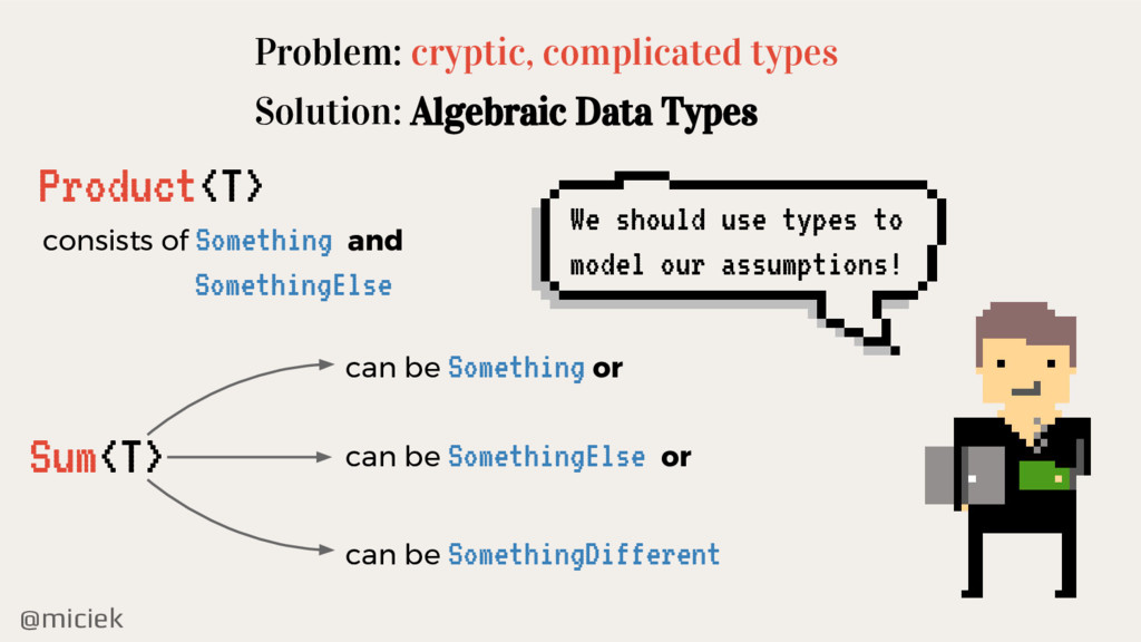 @miciek Problem: cryptic, complicated types Sol...
