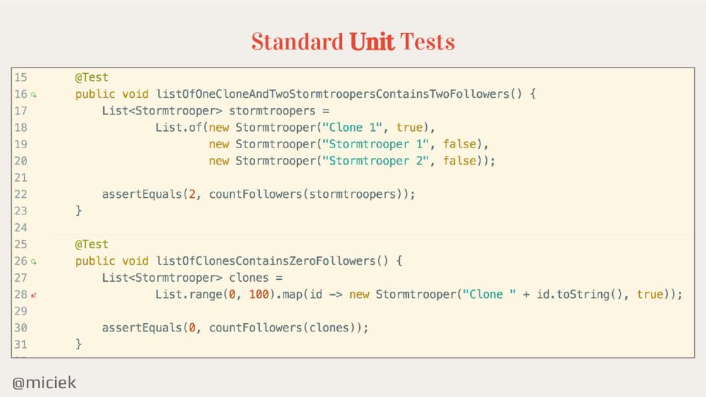 @miciek Standard Unit Tests