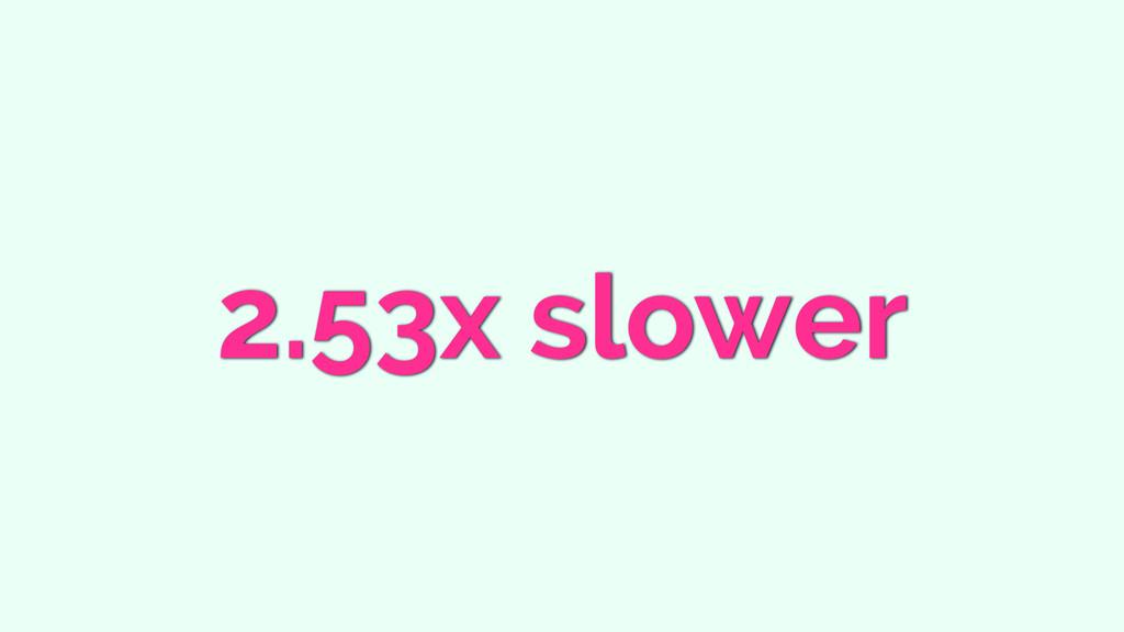 2.53x slower