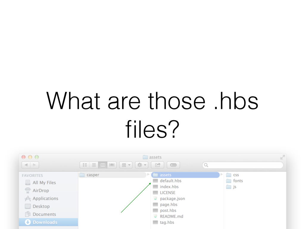 What are those .hbs files?